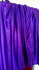 Photo booth purple curtain