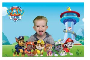 Photo Booth Portsmouth Green screen paw patrol