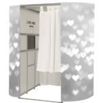 Photo Booth- grey hearts